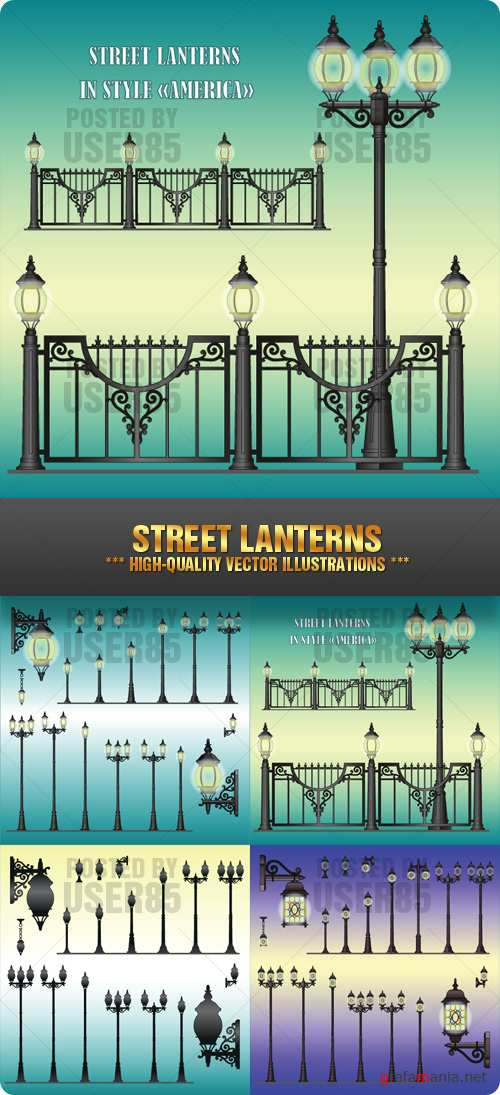 Stock Vector - Street Lanterns