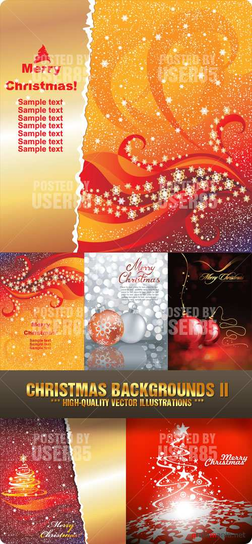 Stock Vector - Christmas Backgrounds II