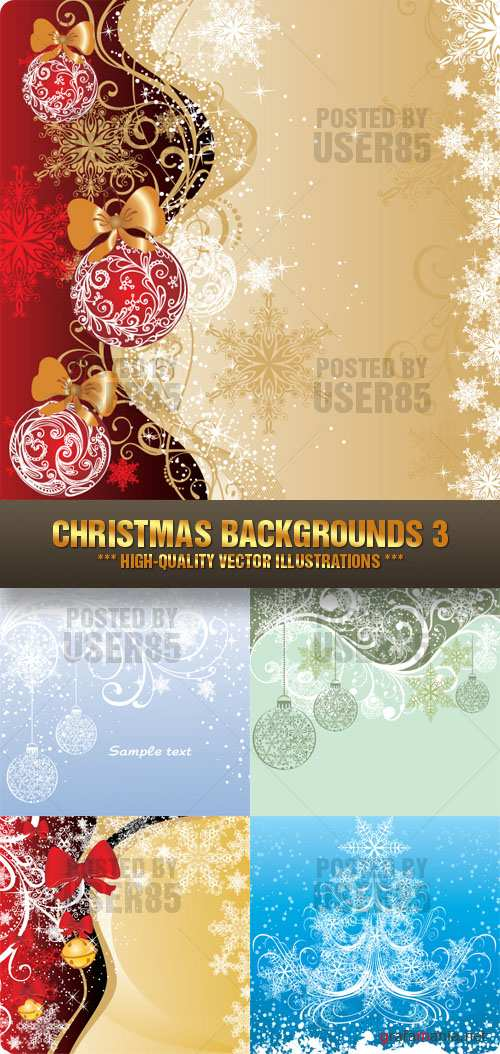 Stock Vector - Christmas Backgrounds 3