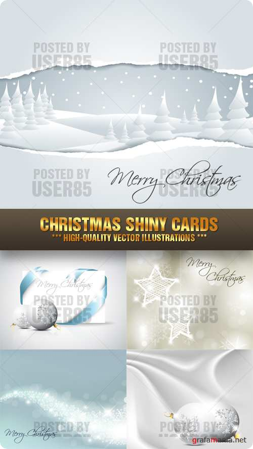Stock Vector - Christmas Shiny Cards