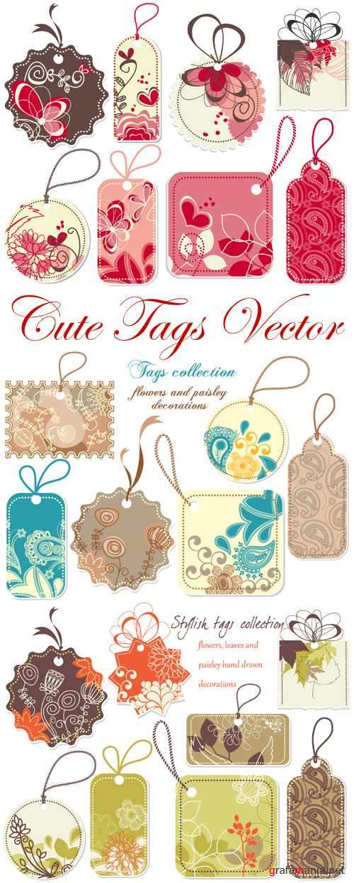 Cute Tags Vector