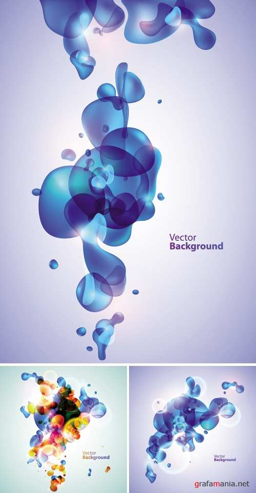 Water Bubbles Backgrounds Vector