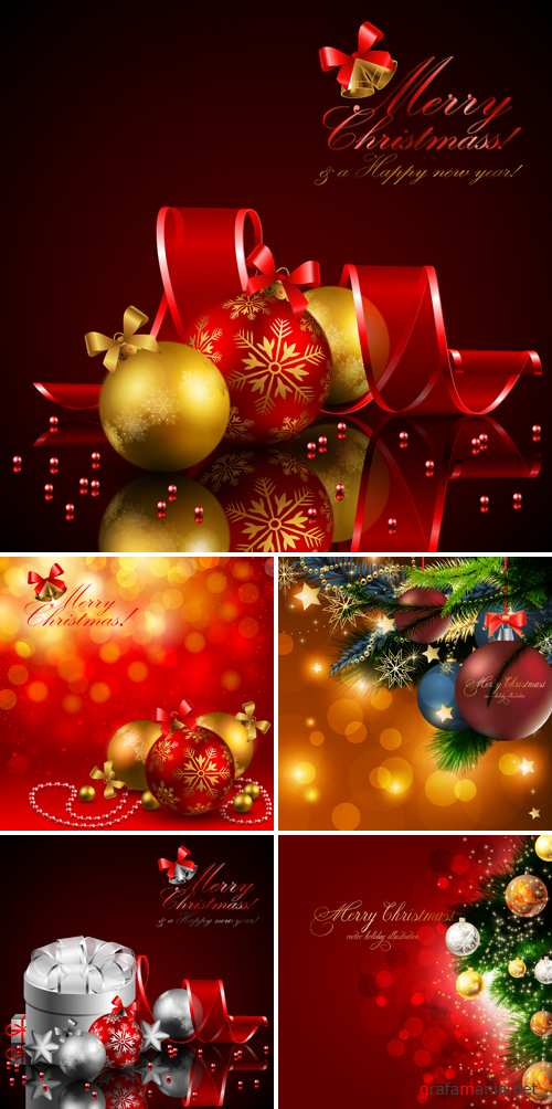 Christmas and New Year Vector 3