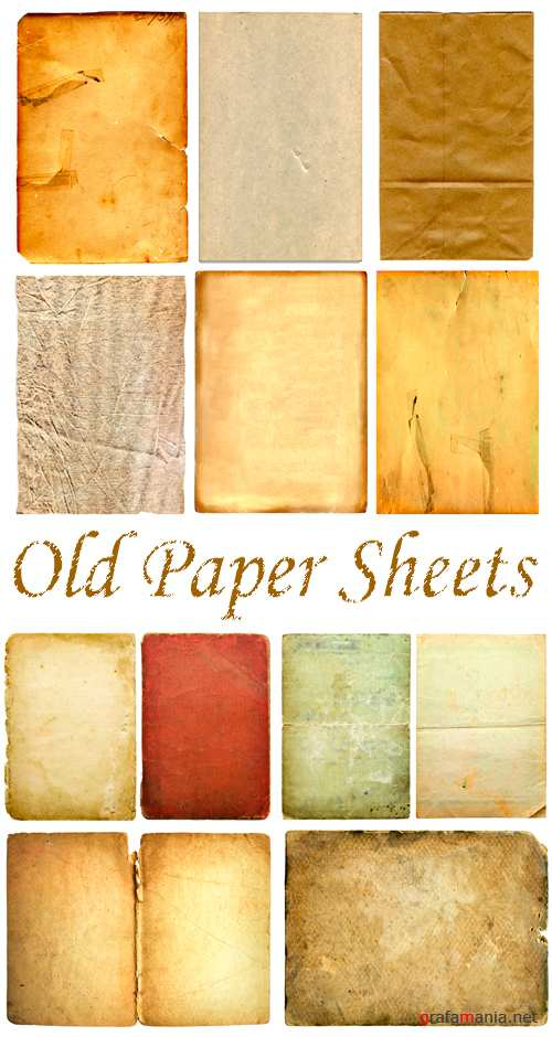 Stock Photo - Old Paper Sheets
