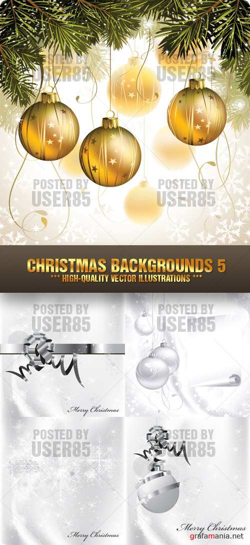 Stock Vector - Christmas Backgrounds 5