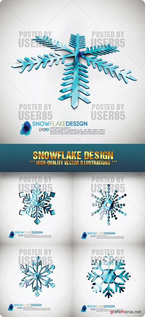 Stock Vector - Snowflake Design