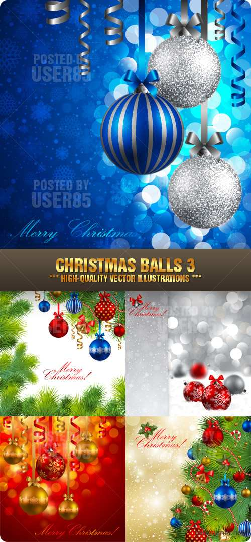 Stock Vector - Christmas Balls 3