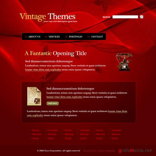 Website Templates  Abstract  5510