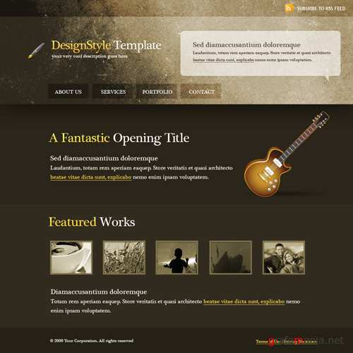Website Templates  Abstract  5499