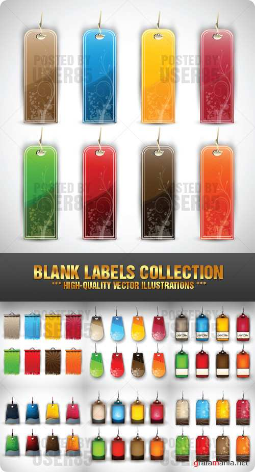 Stock Vector - Blank Labels Collection