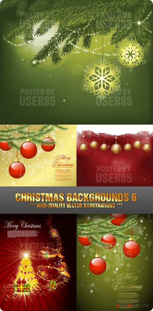 Stock Vector - Christmas Backgrounds 6