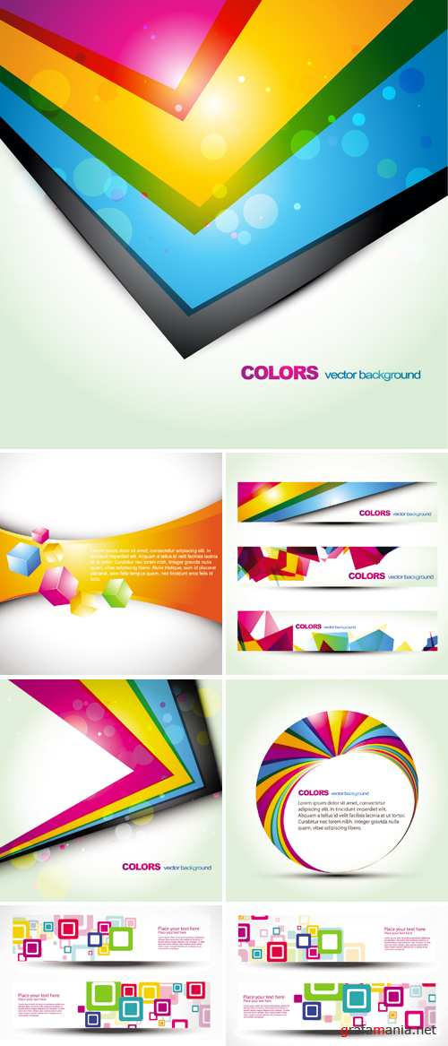 Stylish Color Backgrounds and Banners