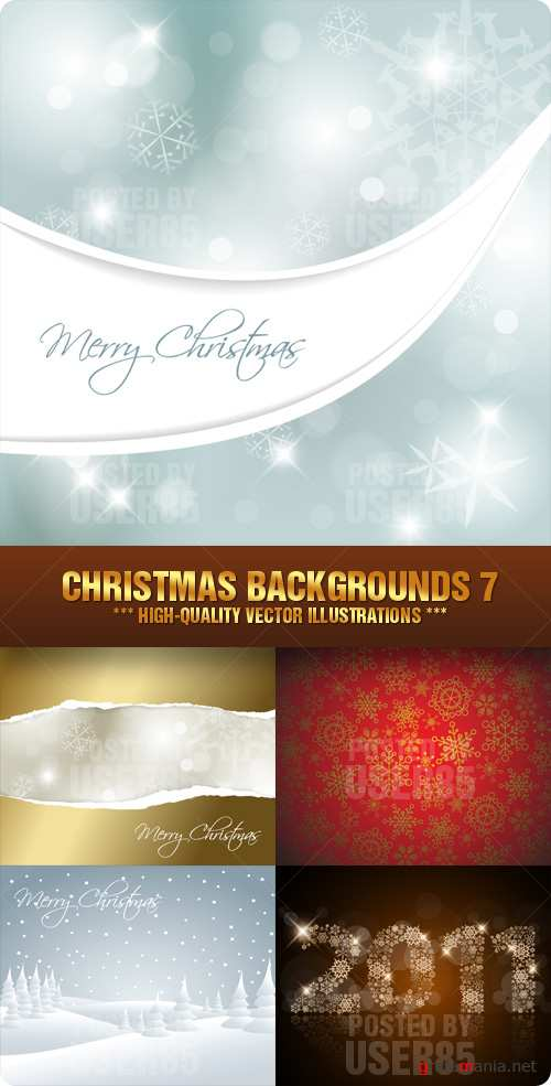 Stock Vector - Christmas Backgrounds 7