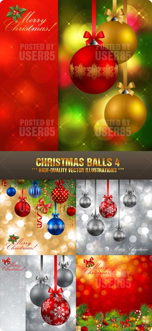 Stock Vector - Christmas Balls 4