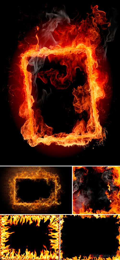 Stock Photo - Fire Frames 2