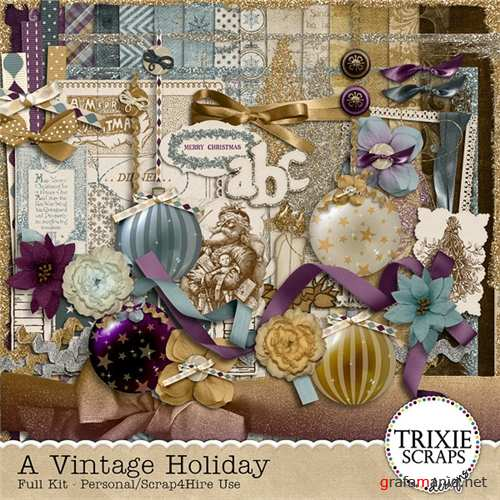 A Vintage Holiday - scrap