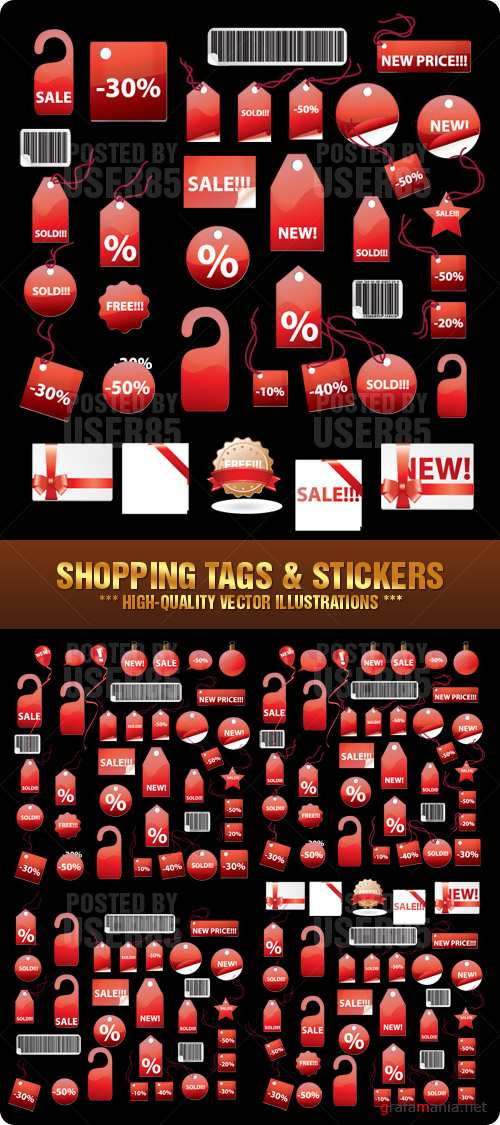 Stock Vector - Shopping Tags & Stickers