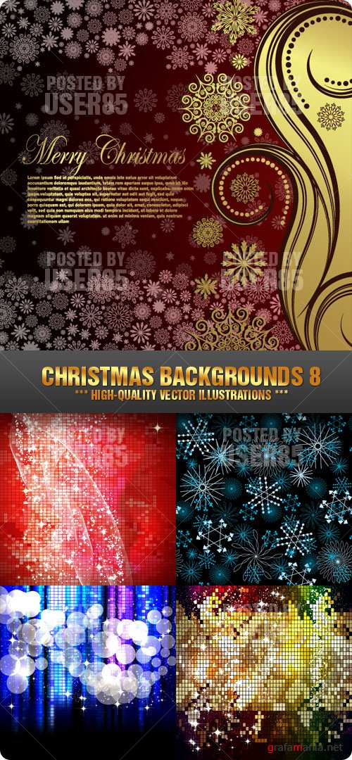 Stock Vector - Christmas Backgrounds 8