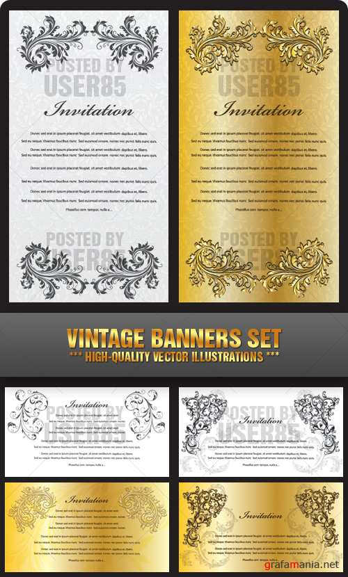 Stock Vector - Vintage Banners Set