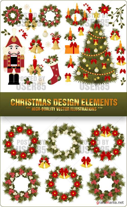 Stock Vector - Christmas Design Elements