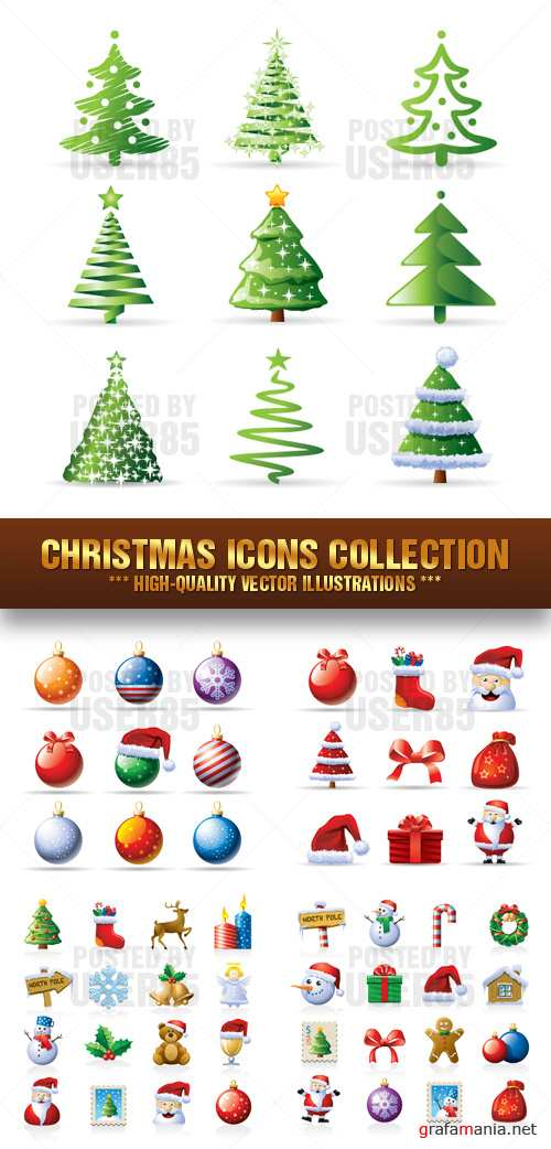 Stock Vector - Christmas Icons Collection