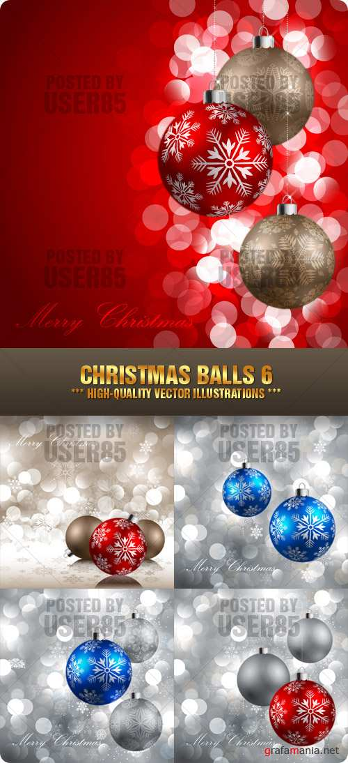 Stock Vector - Christmas Balls 6