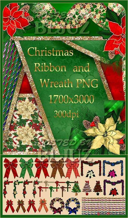 Christmas Ribbon and Wreath