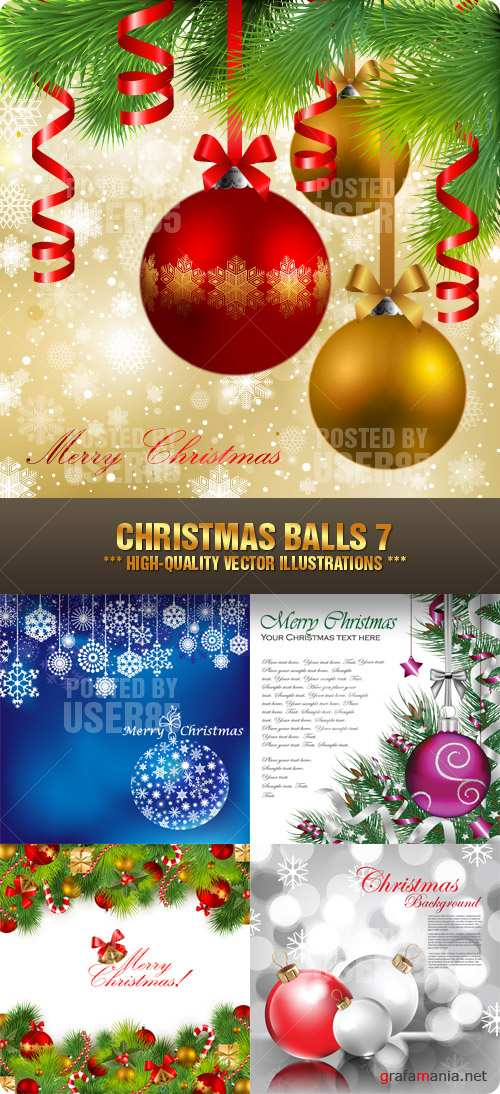 Stock Vector - Christmas Balls 7