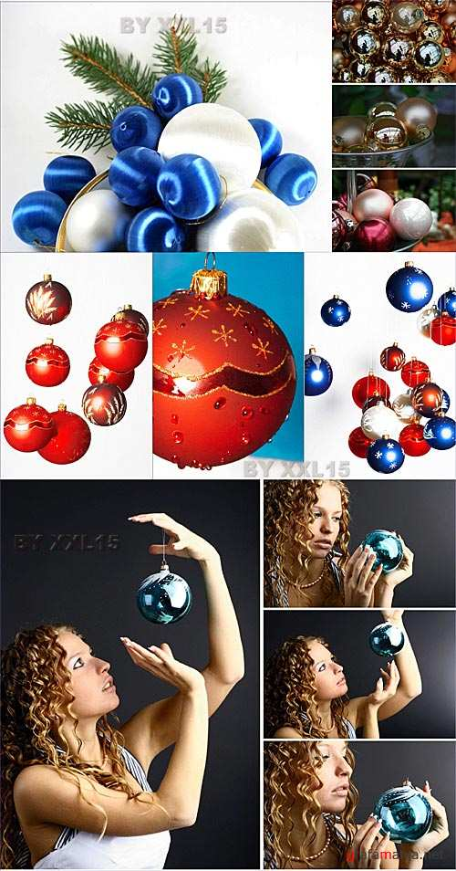 Stock Photo - New Years balls 2