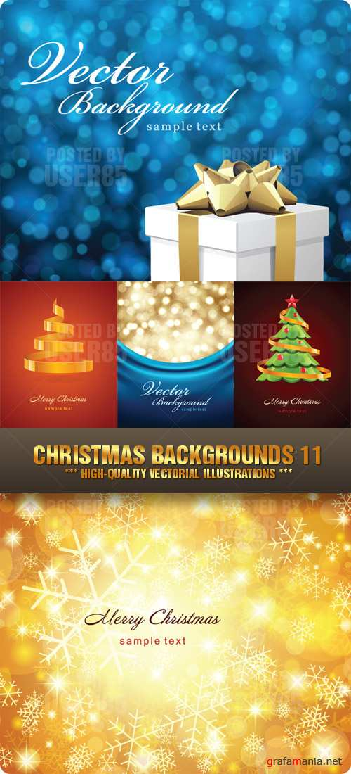Stock Vector - Christmas Backgrounds 11