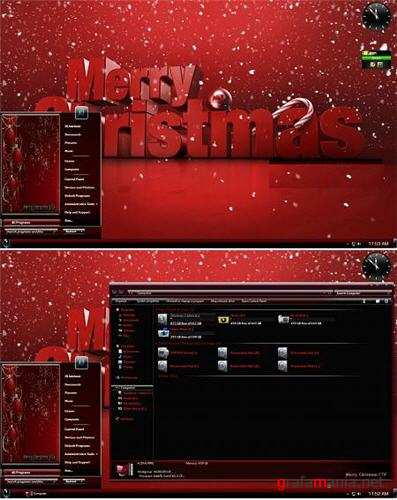 Merry Christmas Theme for Windows 7