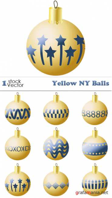 Yellow NY Balls Vector