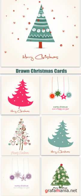 Drawn Christmas Cards