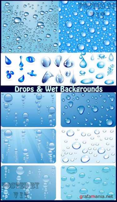 Drops and Wet Backgrounds 8