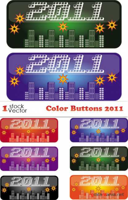Color Buttons 2011 Vector