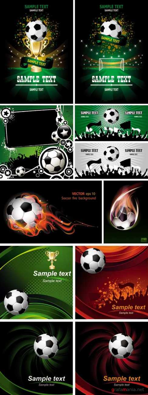 Football Posters Vector