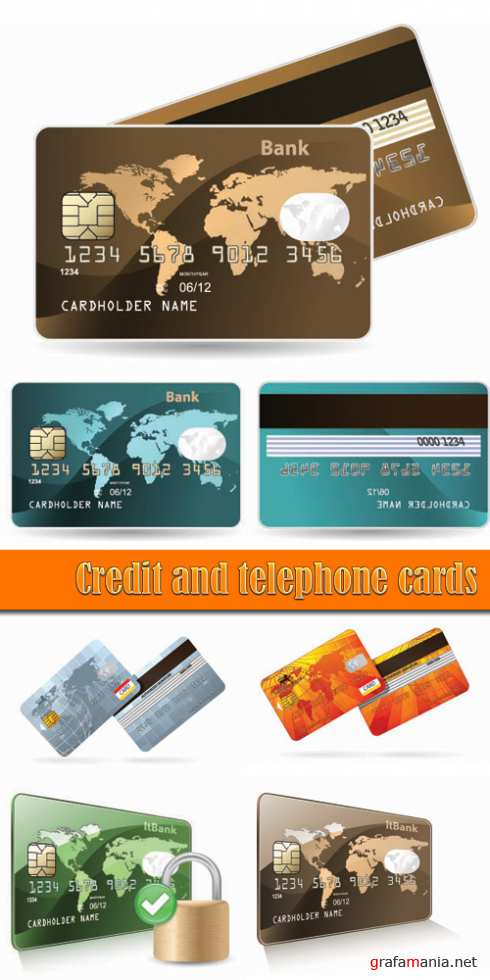 Credit and telephone card