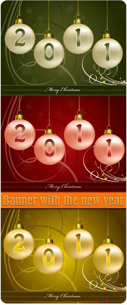 Banner with the new year