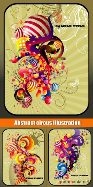 Abstract circus illustration