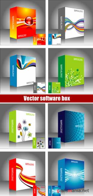 Vector software box