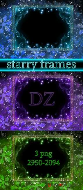 Рамочки starry frames