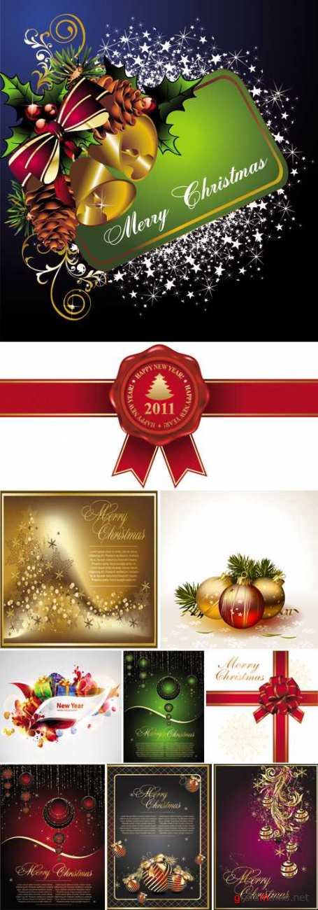 Christmas and New Year Vector Mix