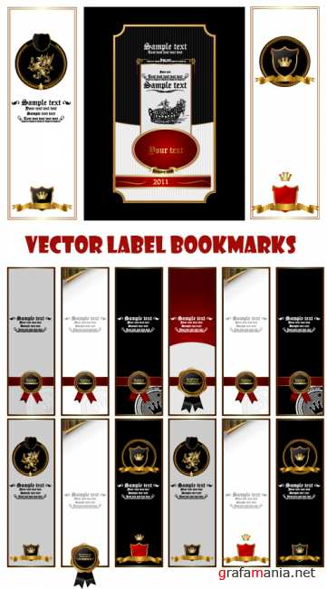 Vector label bookmarks