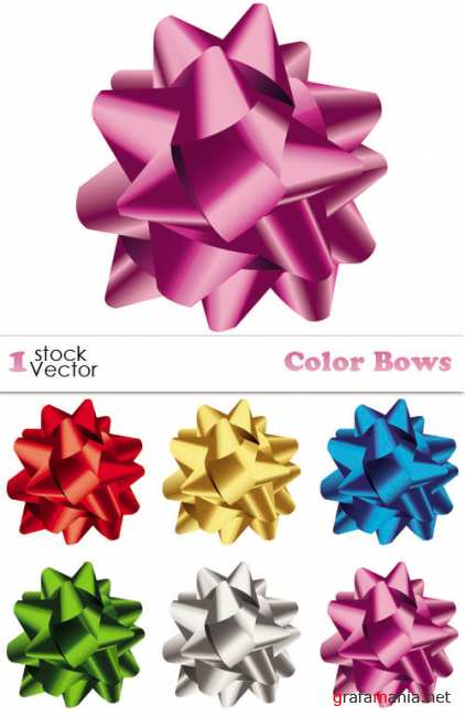 Color Bows Vector