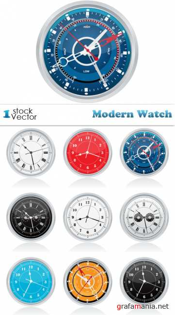 Modern Watch Vector