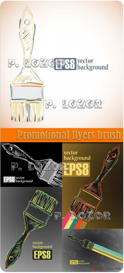 Promotional flyers brush 2