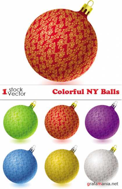 Colorful NY Balls Vector