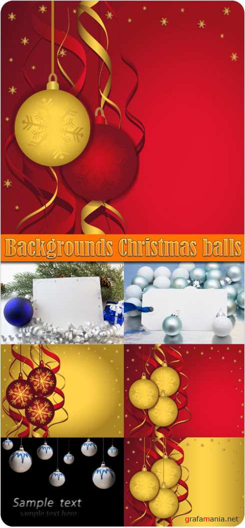 Backgrounds Christmas balls 3
