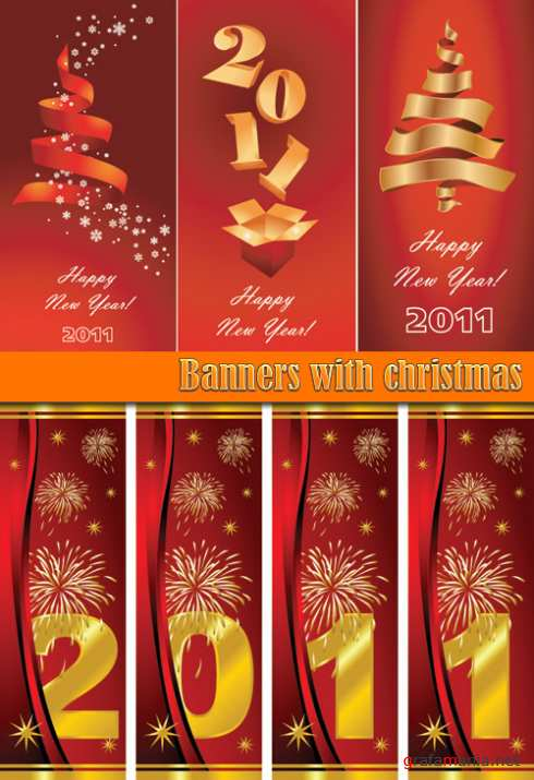 Banners with christmas