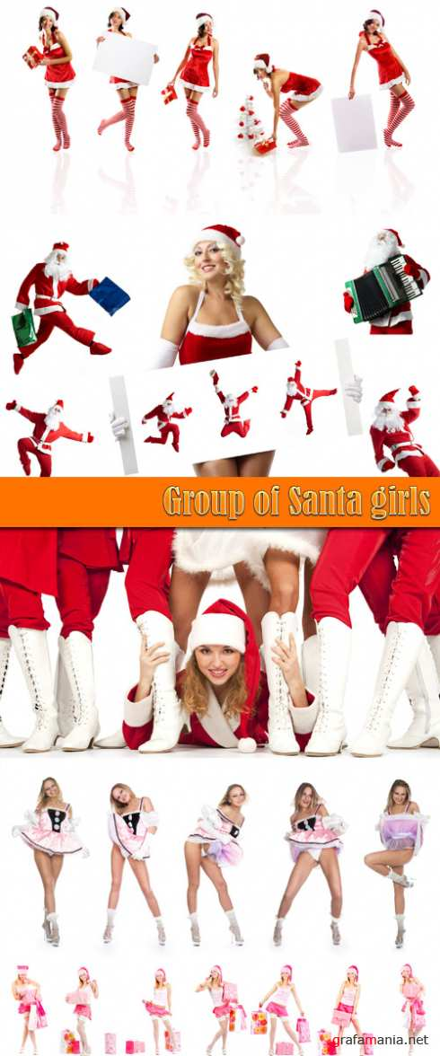 Group of Santa girls